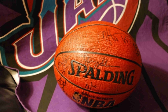 Utah Jazz Autographed Basketball